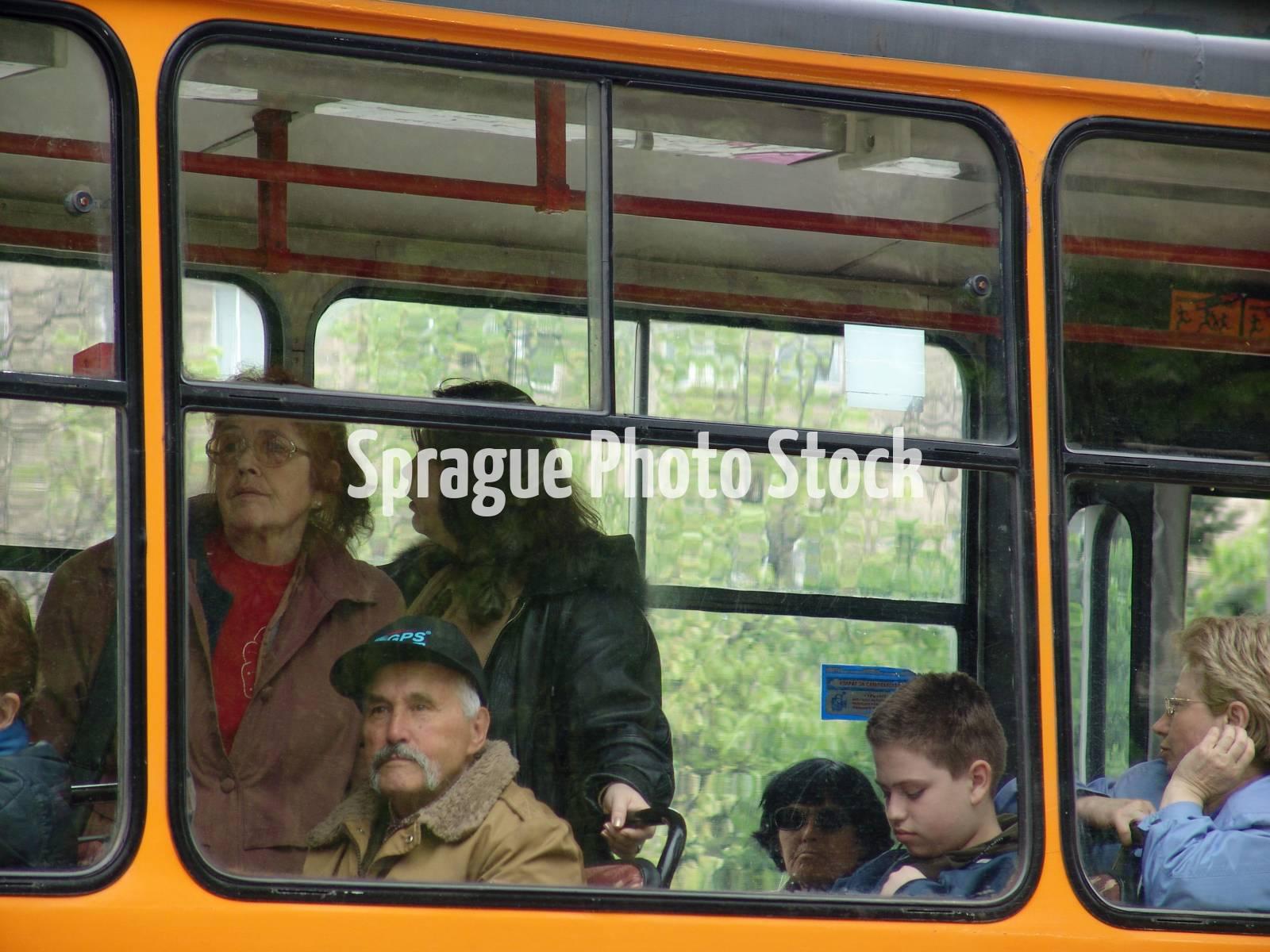 A tram, Sofia, Bulgaria.
