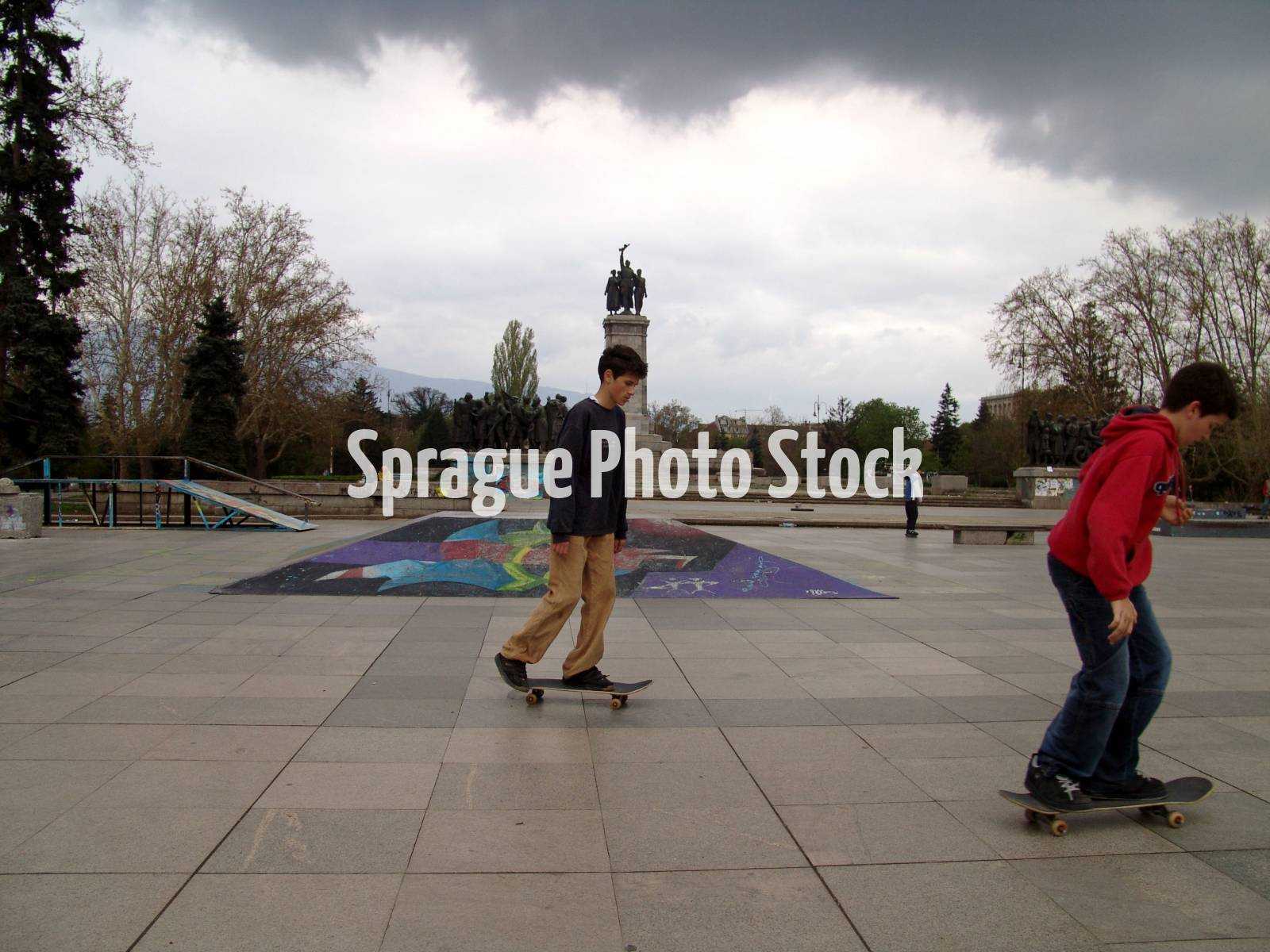 Skateboarders, Sofia, Bulgaria.