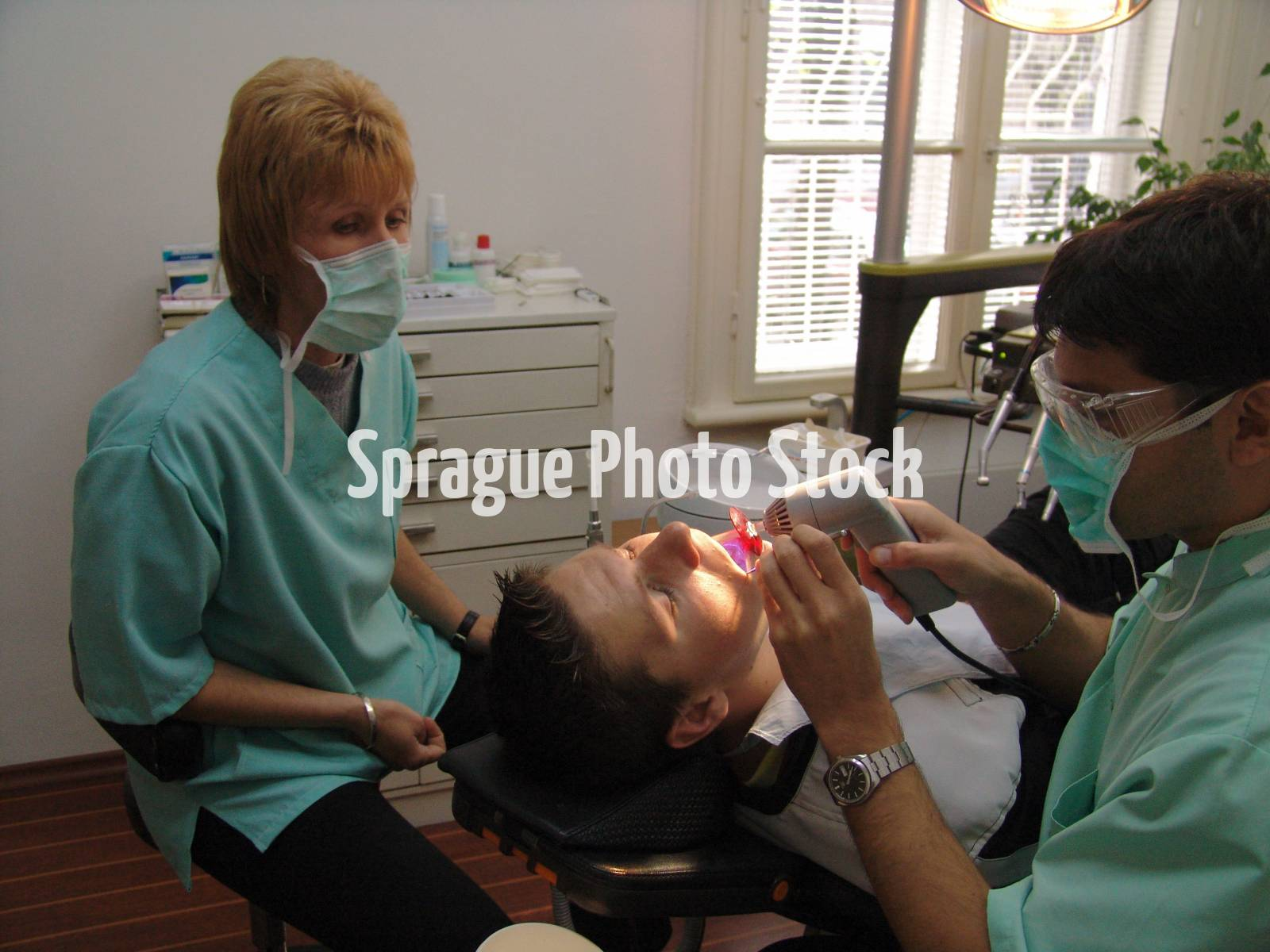 Dentist at work, Sofia. Bulgaria.