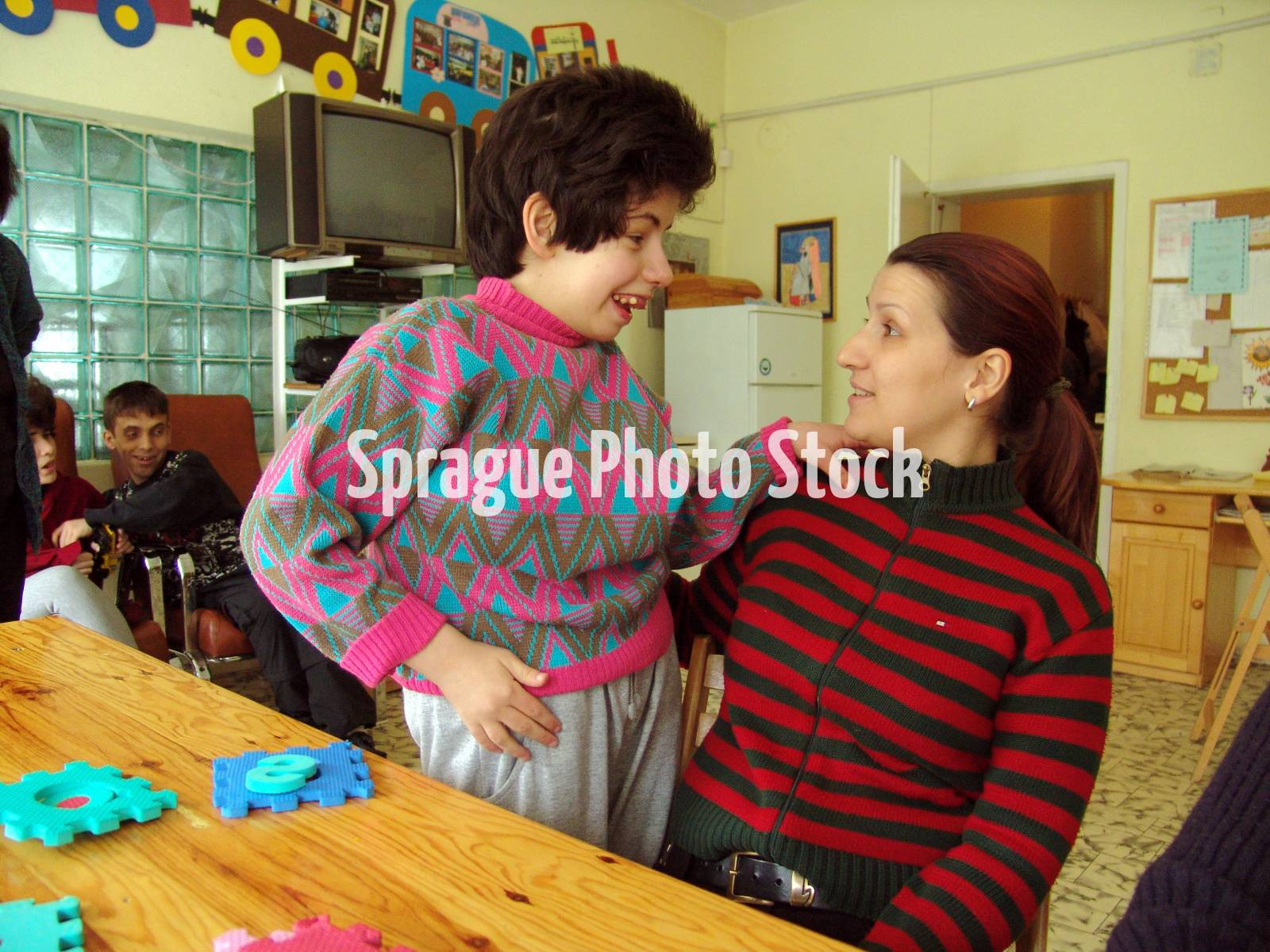 Anunciation Center, for people with severe mental and physical disabilities, Sofia. Bulgaria.