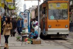 Street scene, Sofia. Bulgaria.