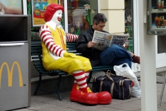 Ronald McDonald at MacDonalds restaurant, Sofia, Bulgaria.