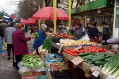 Vegetable market, Sofia, Bulgaria.