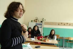 Teenagers at drug awareness program in high school No. 35, Sofia. Bulgaria.
