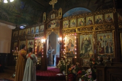 Sunday mass at the Byzantine Catholic Assumption cathedral, Sofia. Bulgaria.