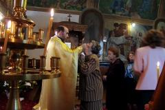 Sunday mass at the Byzantine Catholic Assumption cathedral, Sofia. Bulgaria.