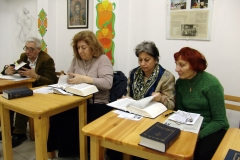 Bible study class at Pokrov Parish Orthodox church, Sofia. Bulgaria.