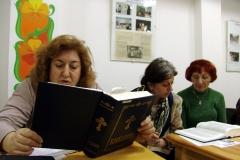 Bible study class at Pokrov Parish Orthodox church, Sofia. Bulgaria.